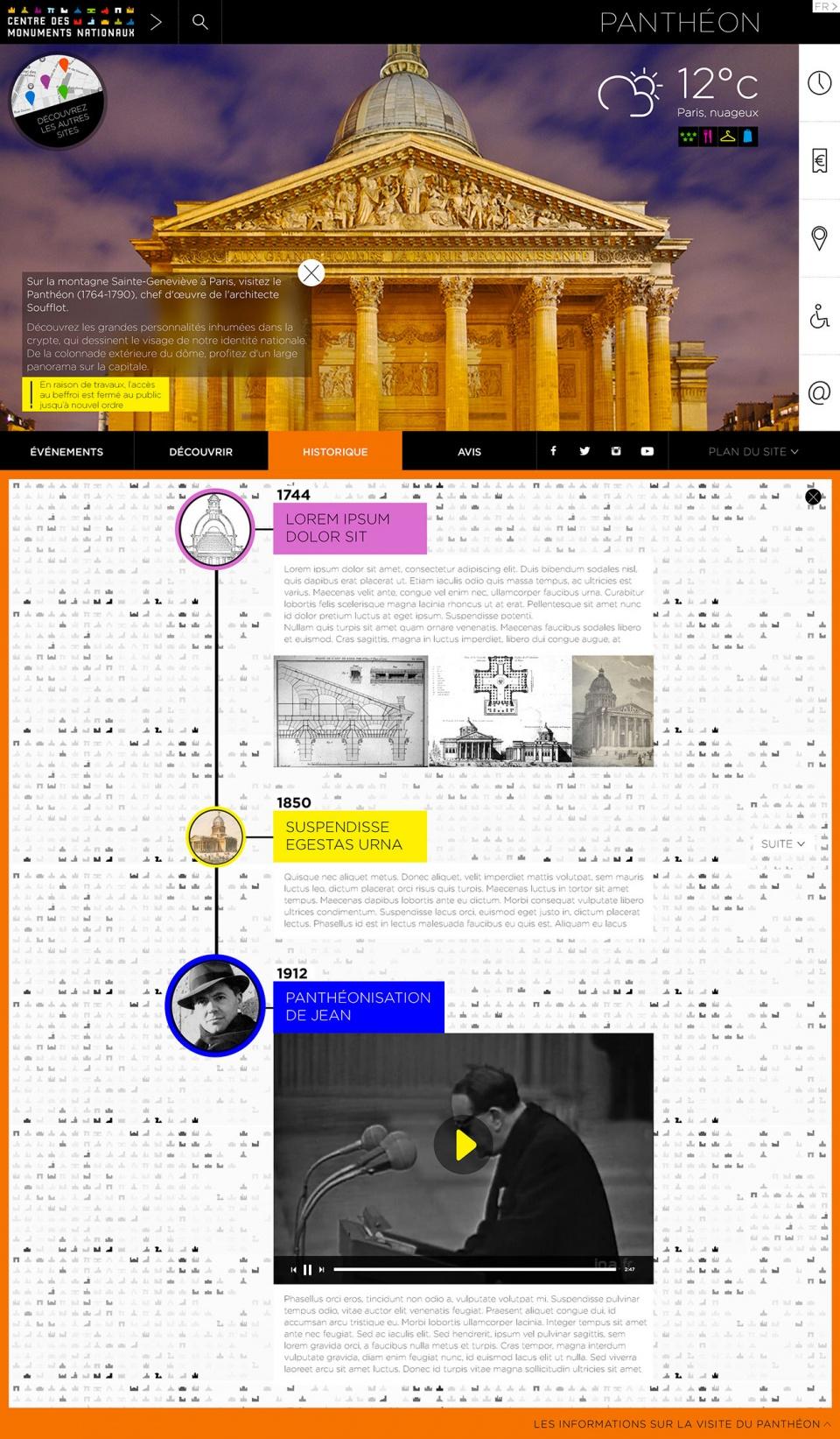 Centre des Monuments Nationaux • Galaxie web