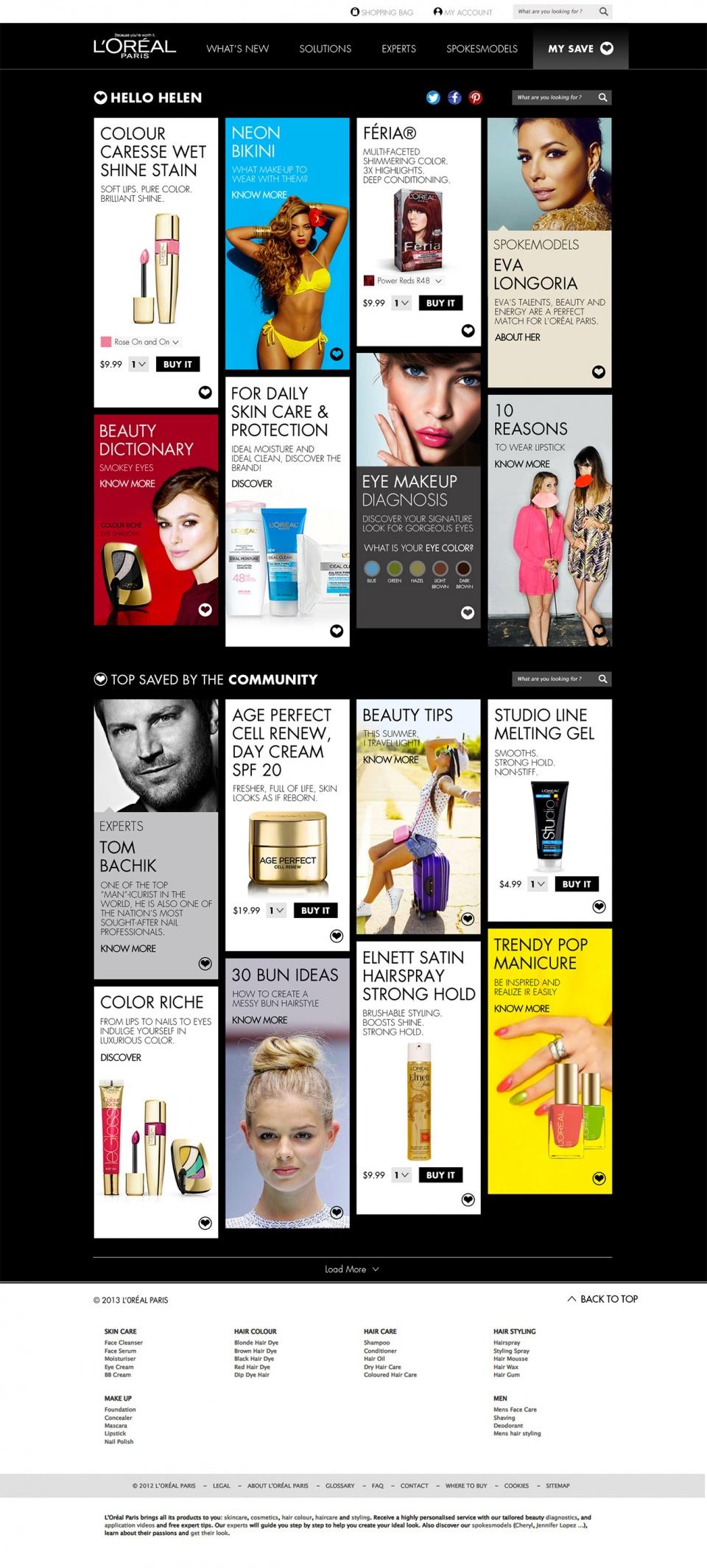 L'Oréal Paris • Responsive design
