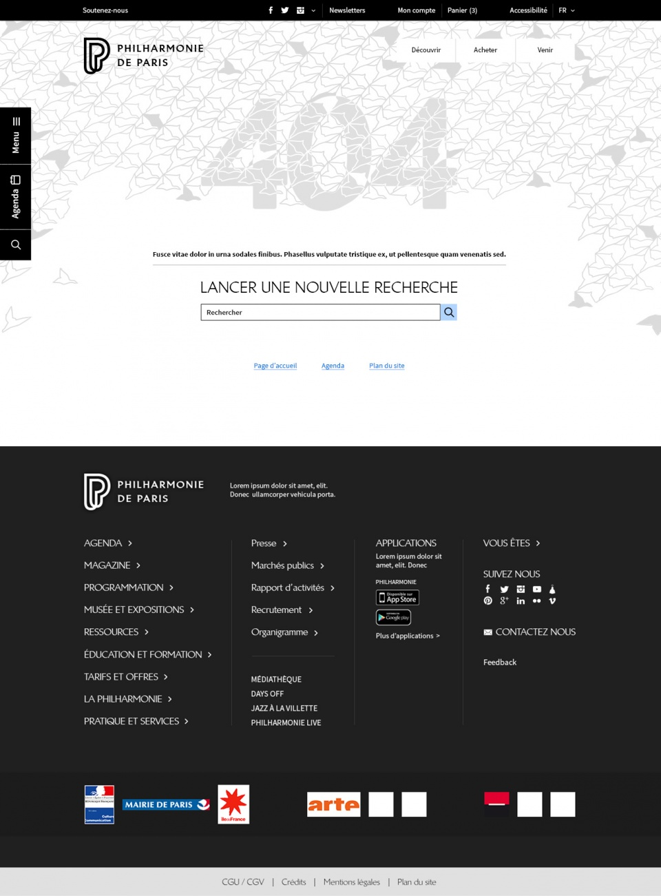 Philharmonie de Paris • Responsive Design