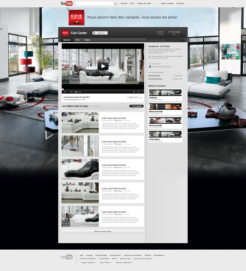 Cuir Center // Site ecommerce