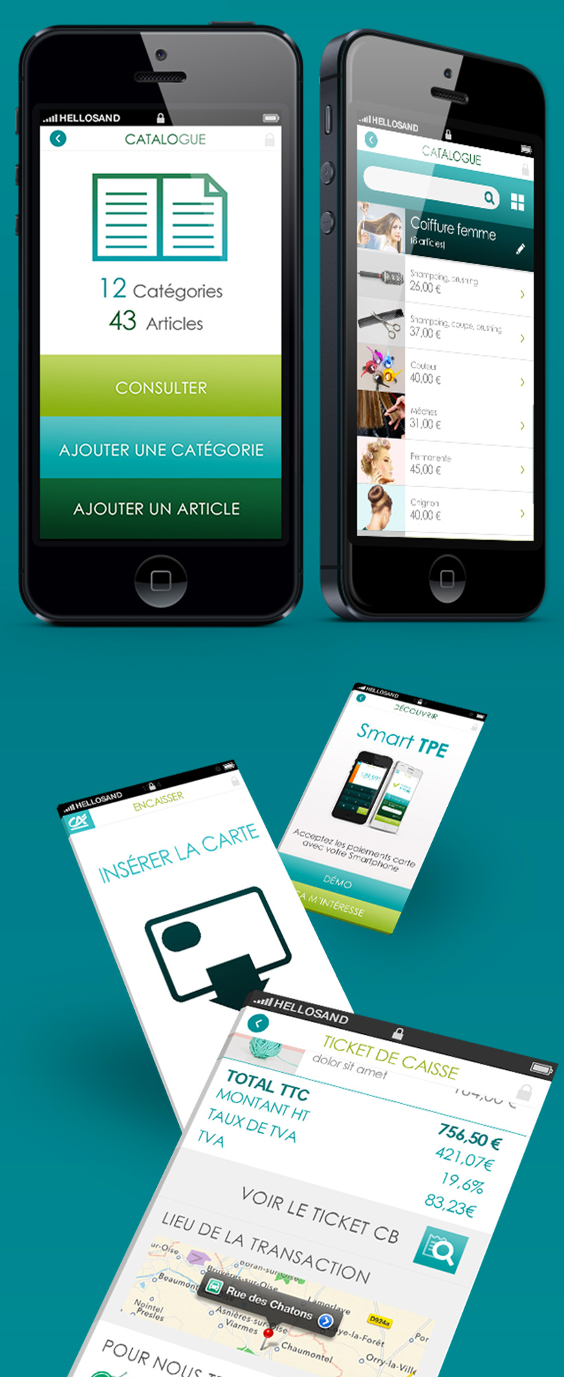 Smart TPE // Credit Agricole / Application mobile et site
