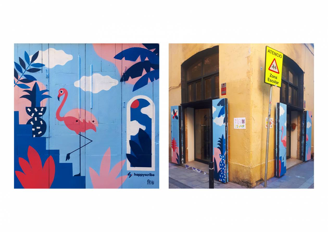 Fresques murales Happy Scribe