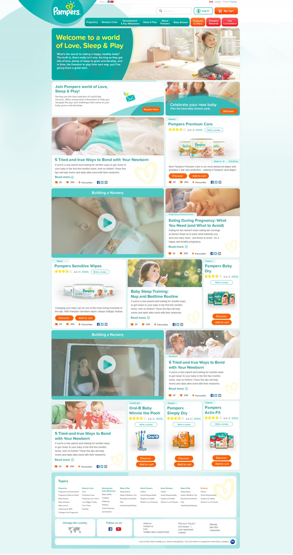 Pampers Home Page