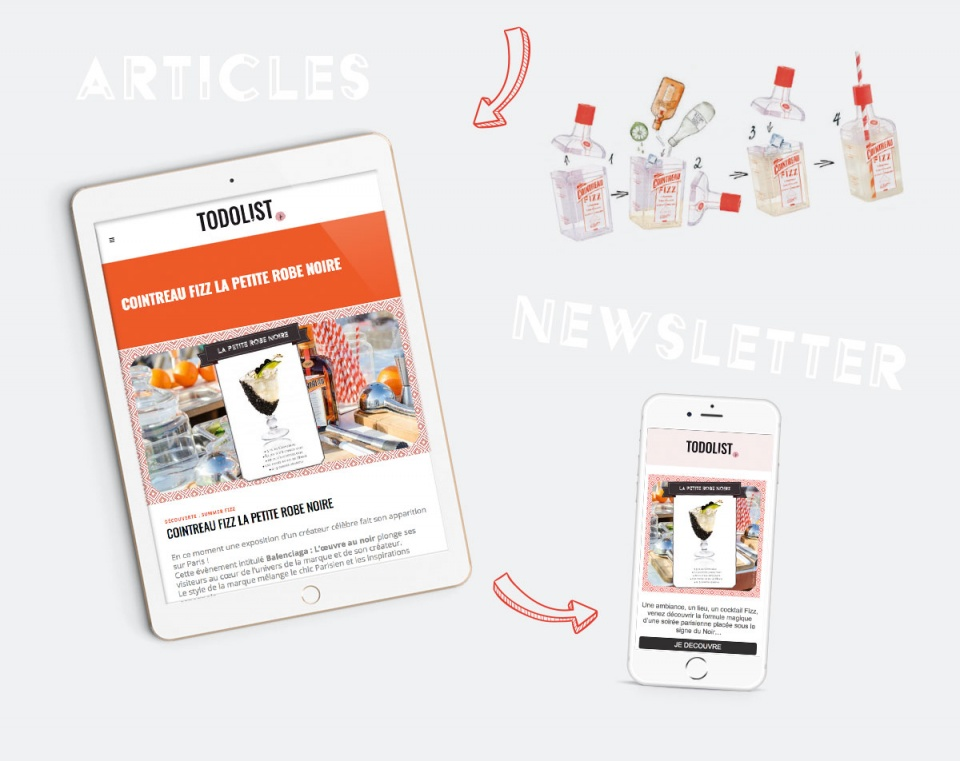 Newsletter Campagne Cointreau Fizz