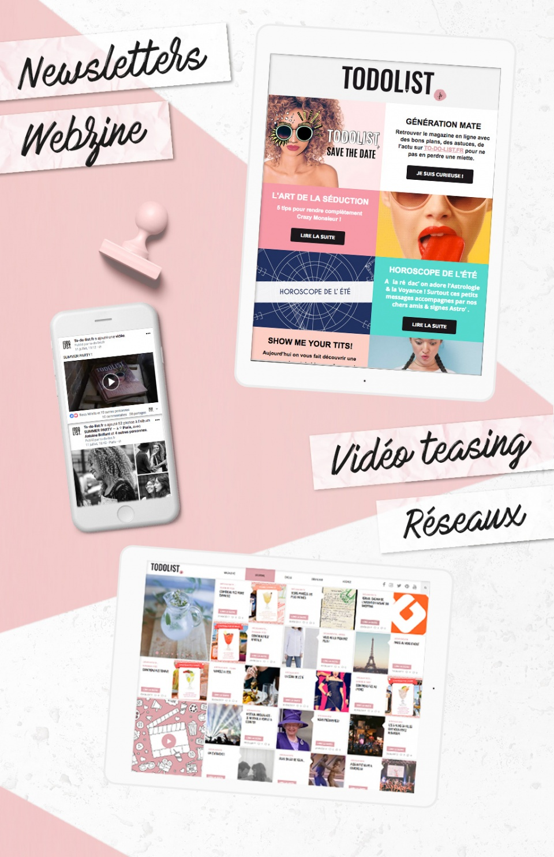 Design newsletter - post réseaux sociaux