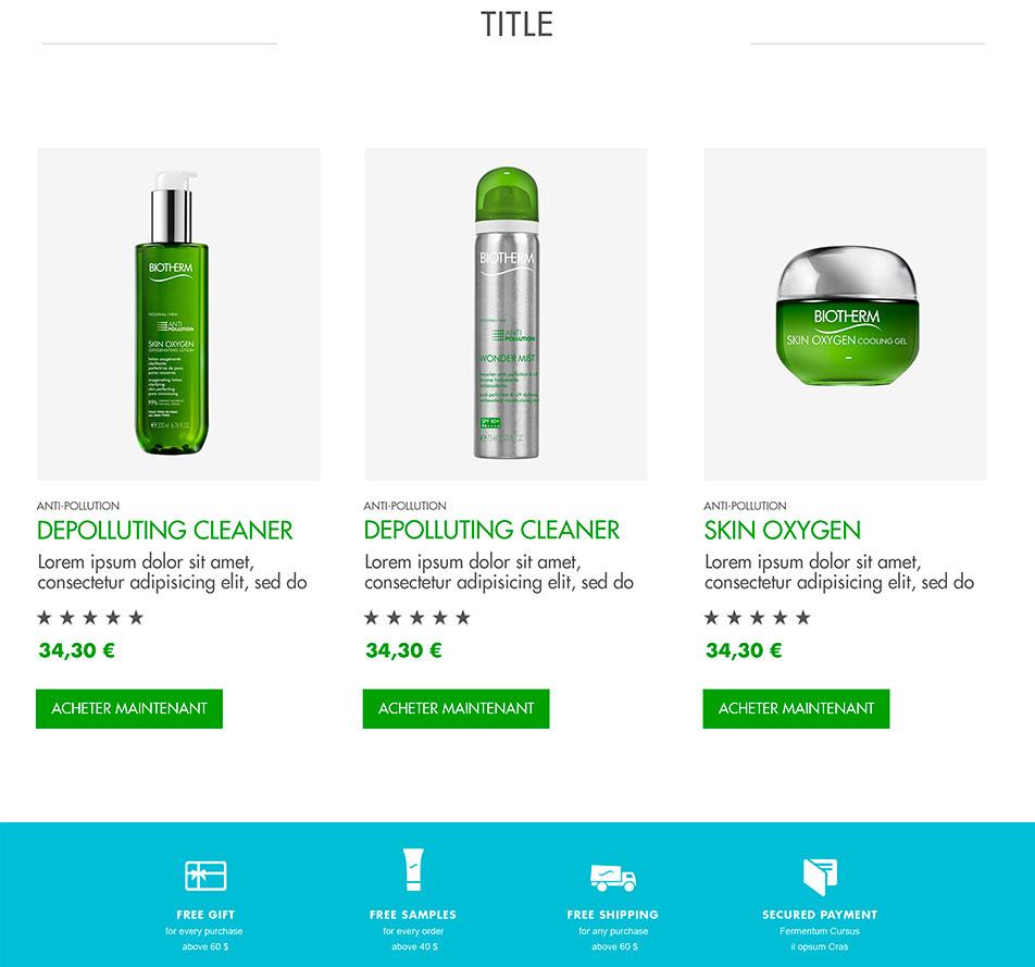 Biotherm - Webdesign
