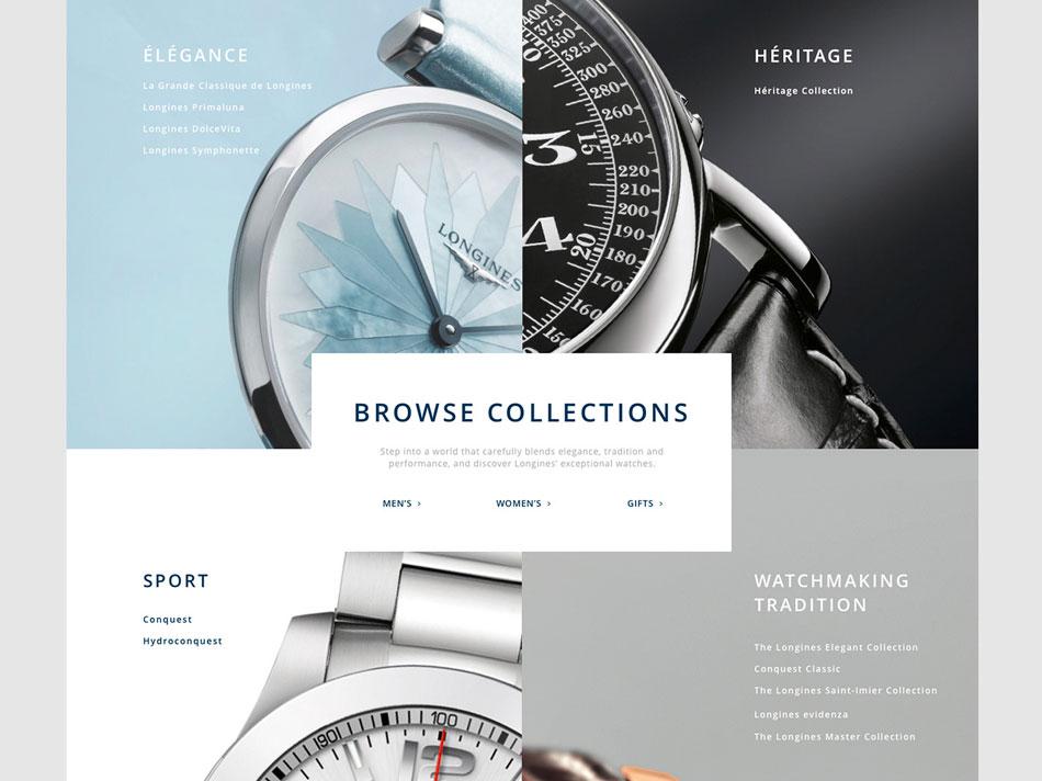 Longines - Webdesign / UI / DA