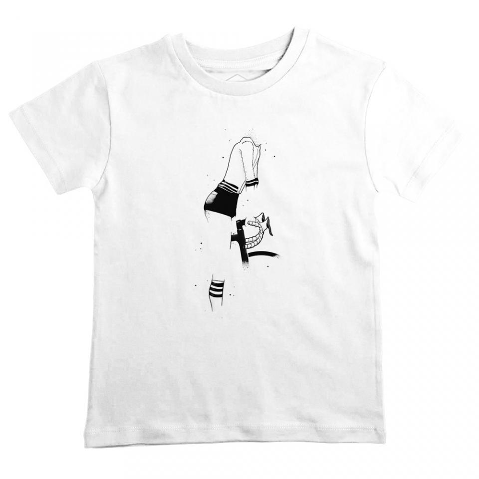 Girl on Bike White Tshirt