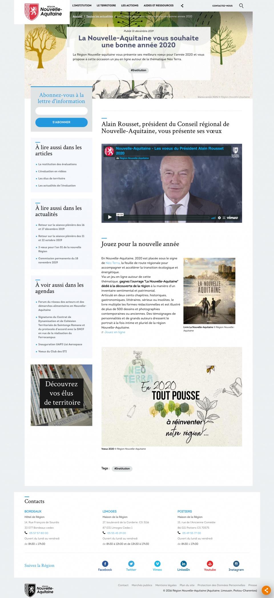 Page Actualité