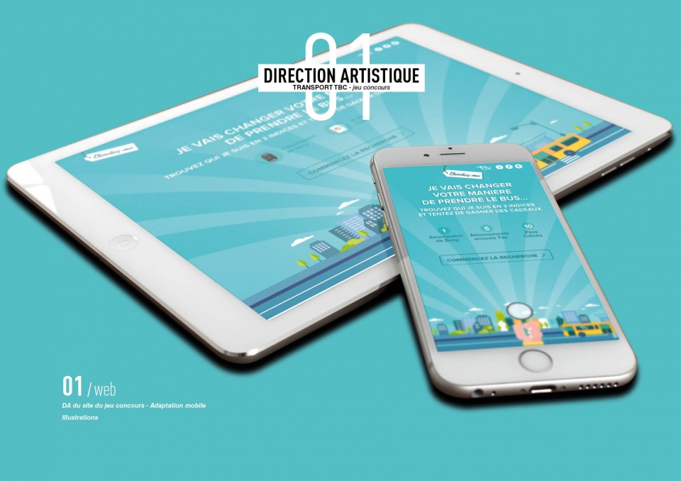 Home page et adaptation mobile