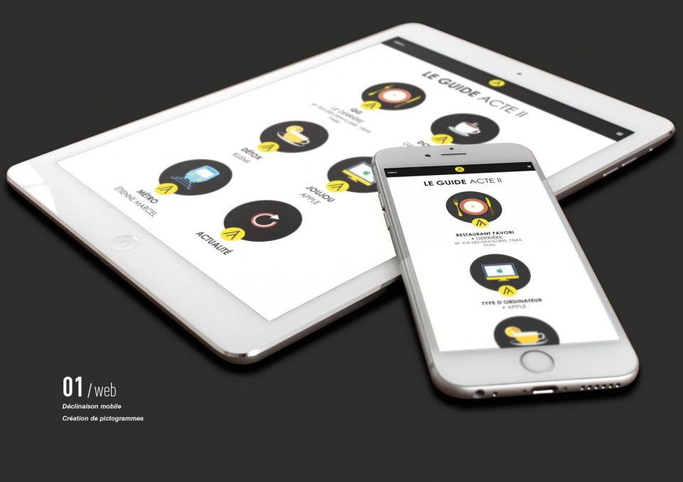 Adaptation mobile et création de pictogrammes