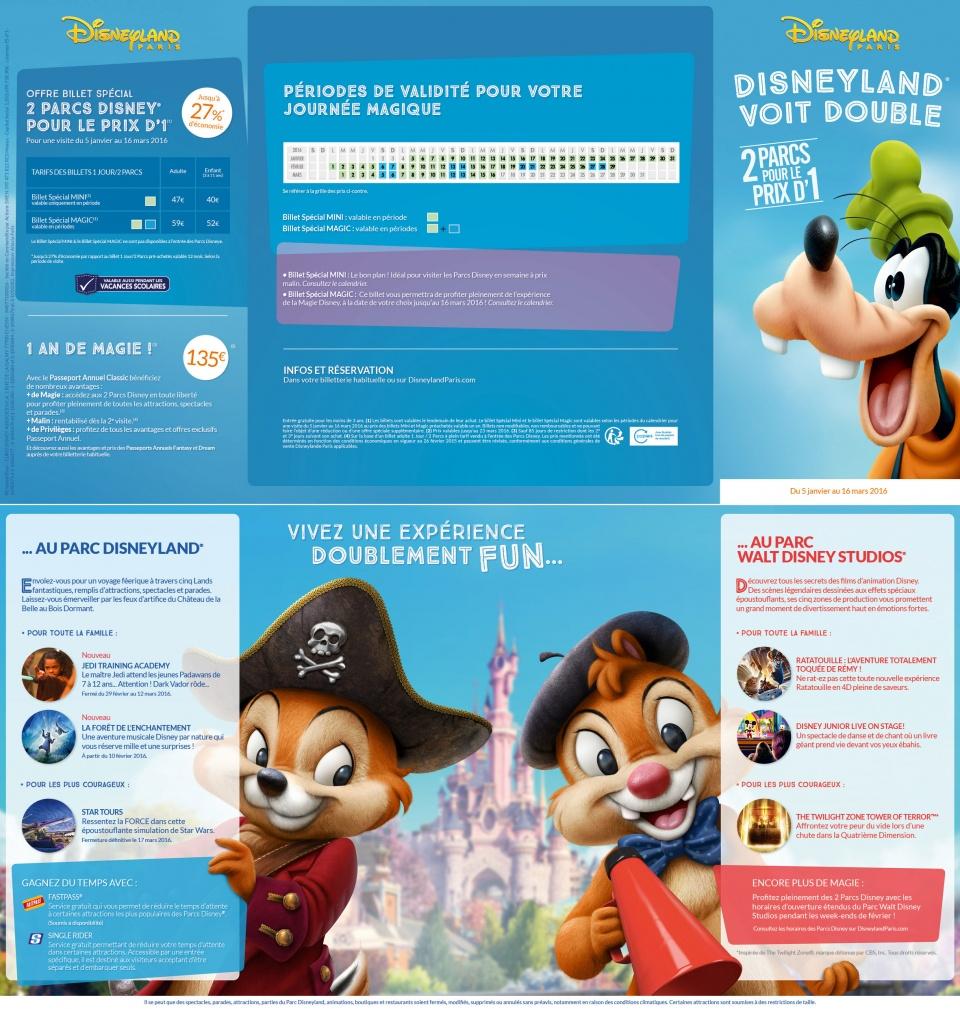 Dépliant Disneyland Paris