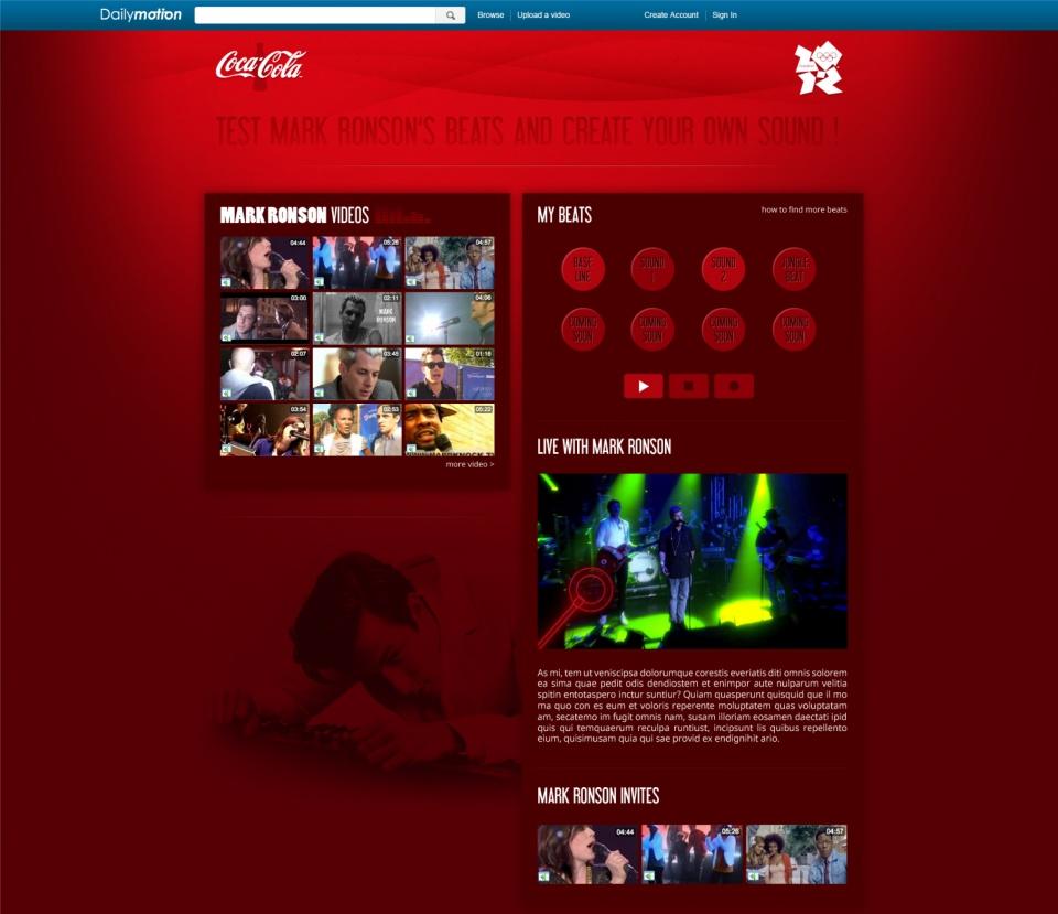 Mark Ronson/Coca Cola