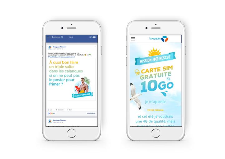 Campagne digitale Mission 4G pour Bouygues Telecom