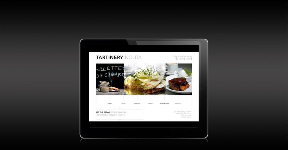 Site internet Tartinery