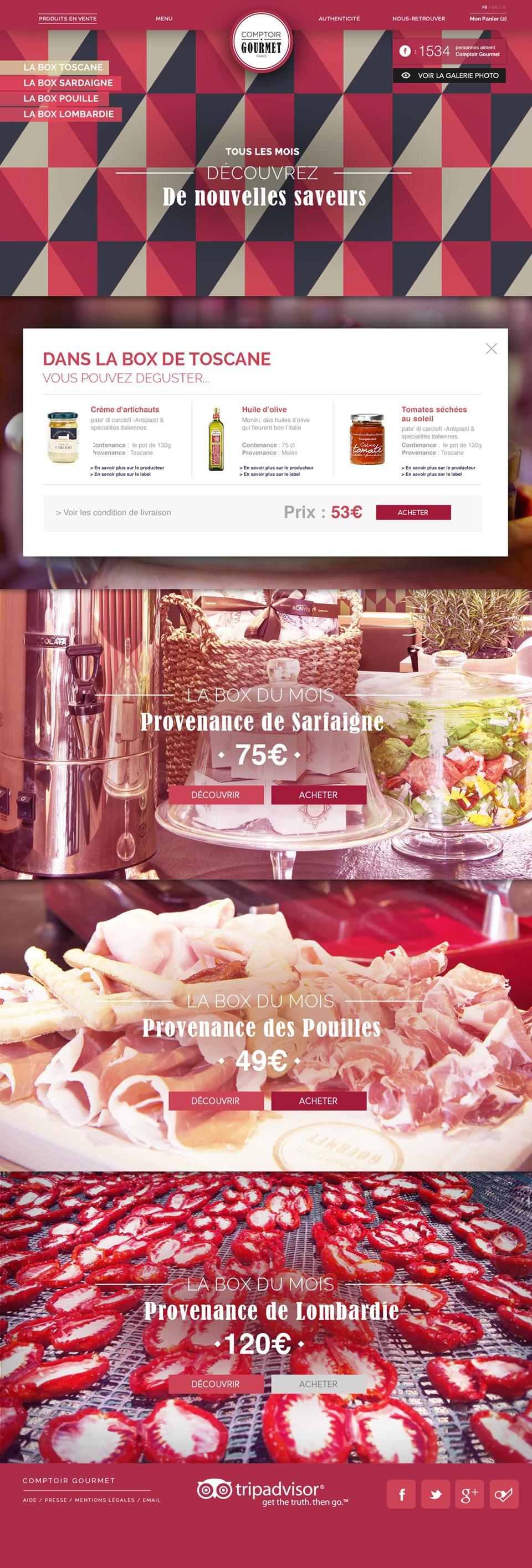 Comptoir Gourmet / Page produit