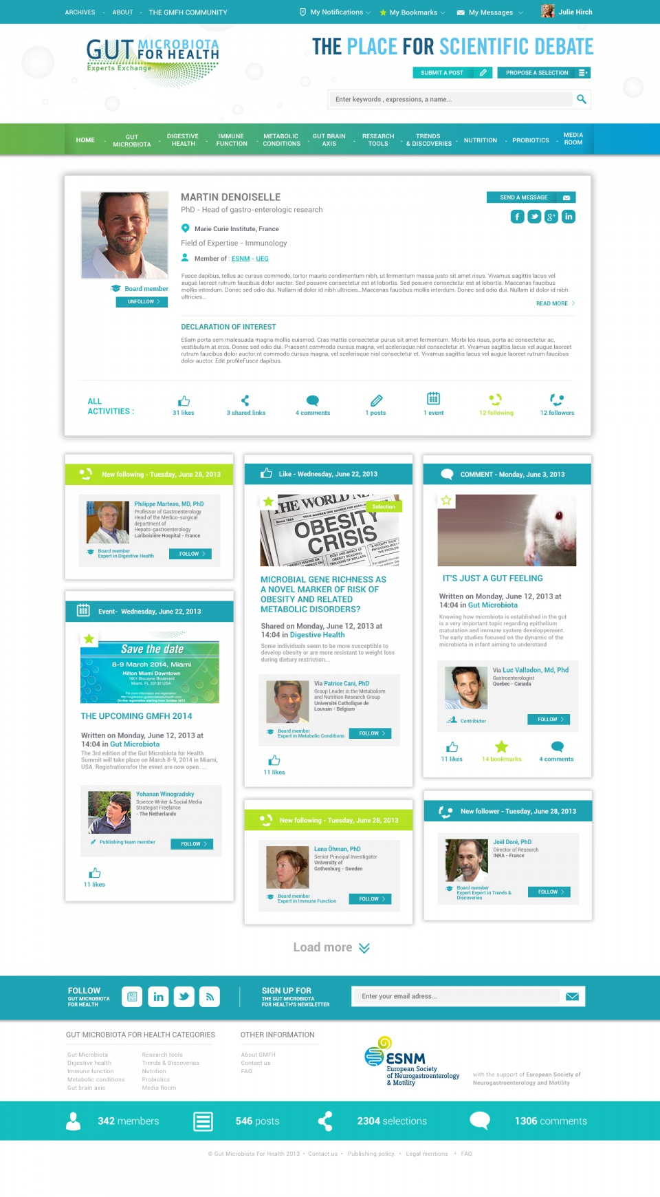 Gut Microbiota For Health / Page profil