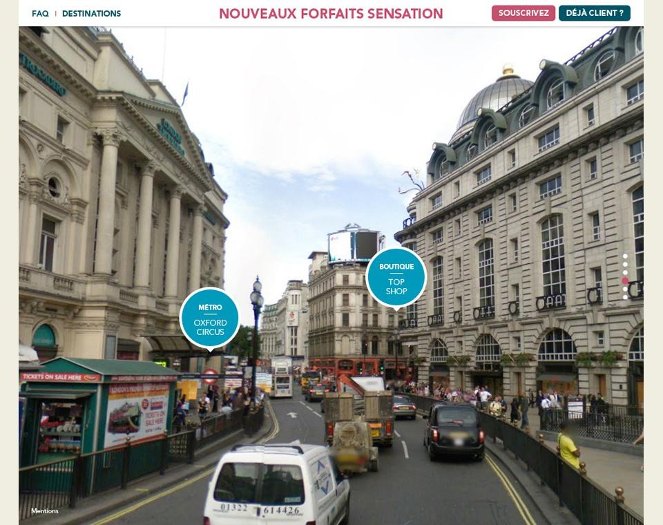 """mise en avant """"plus"""" produit : navigation google map"""