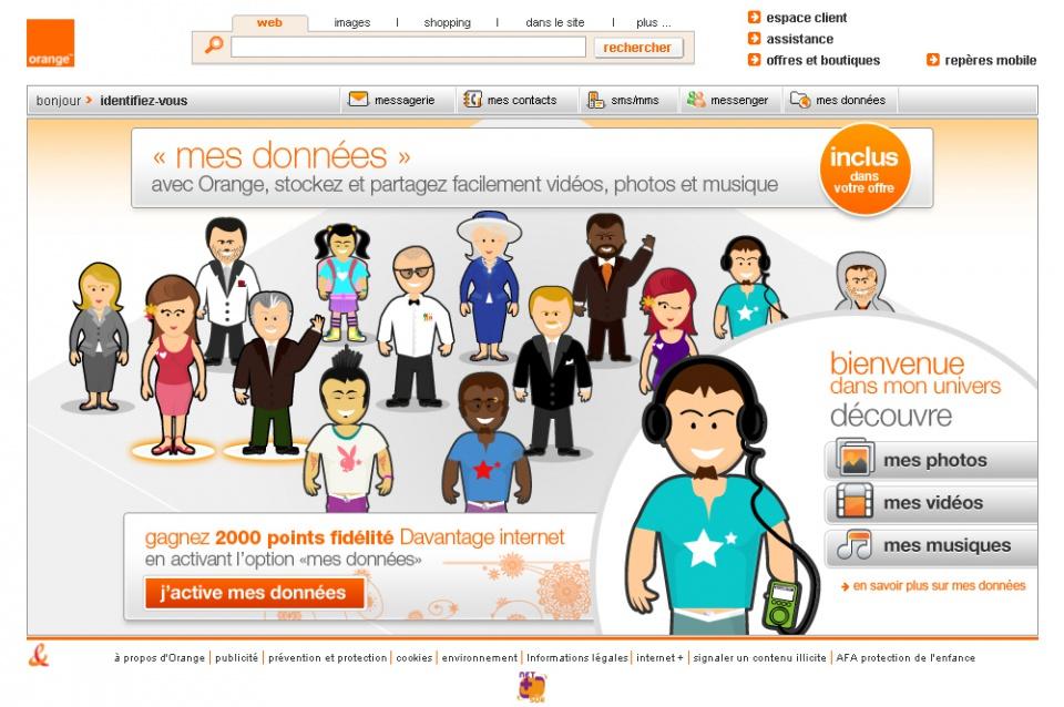 Offre d'hébergement Cloud d'Orange Mes données