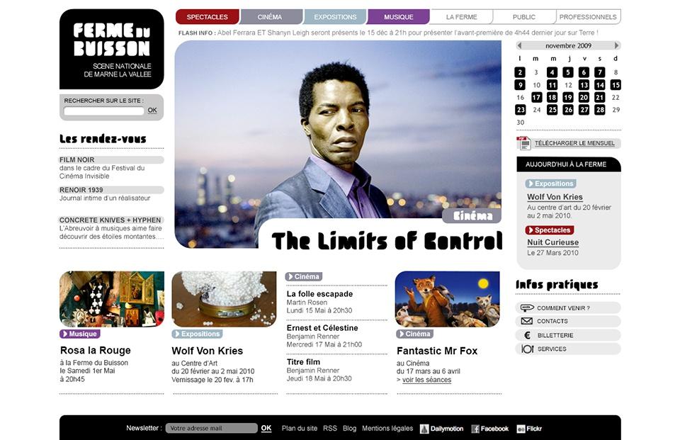 Site internet Ferme du Buisson