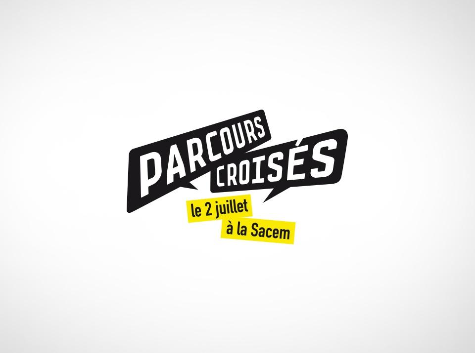 Logo parcours Croisés pour la Sacem