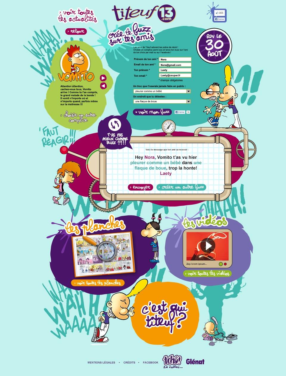 Site internet Titeuf 13