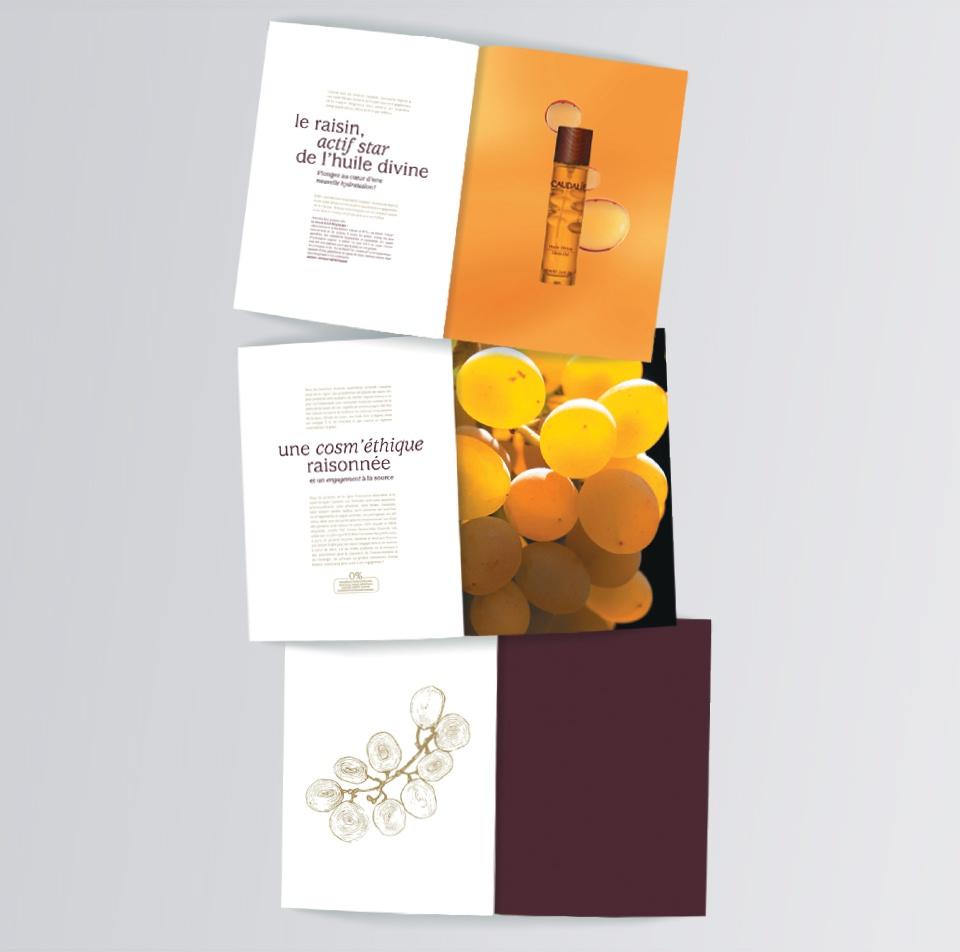 Dossier de presse pour Huile Divine + création d'un coffret «plumier» contenant un échantillon du flacon