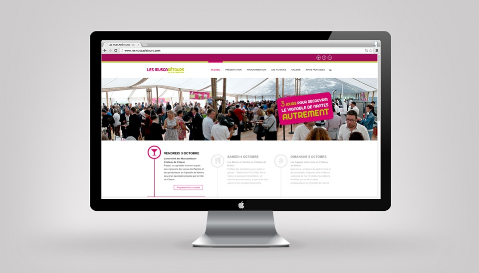 Site , page accueil