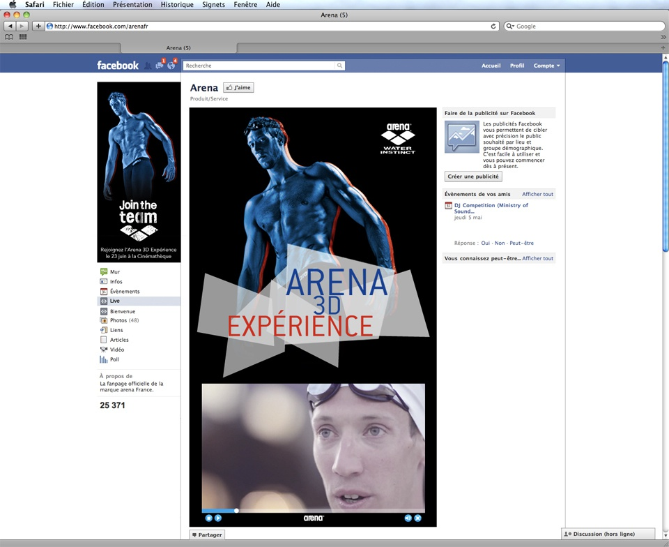 Arena 3D Experience
