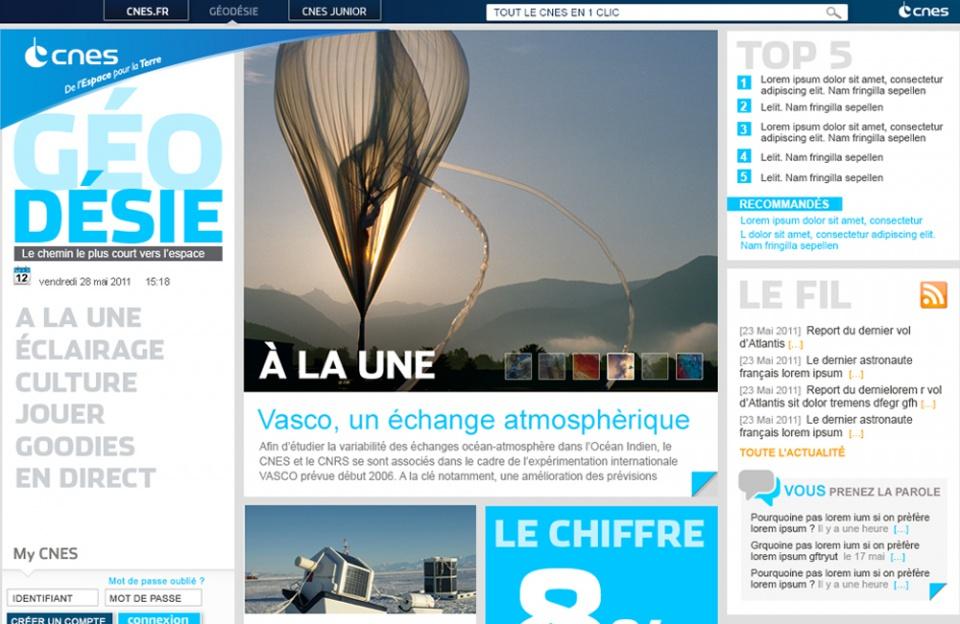 CNES //  Homepage Magazine
