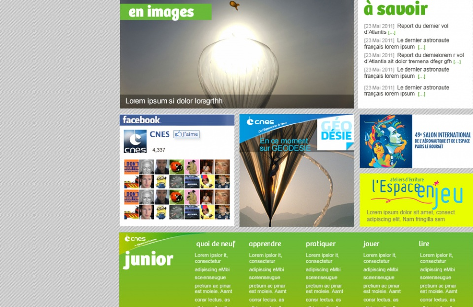 CNES //  Homepage Junior