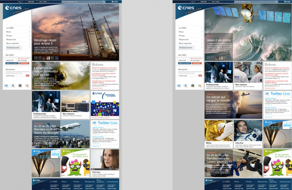 CNES //  Homepage Corporate