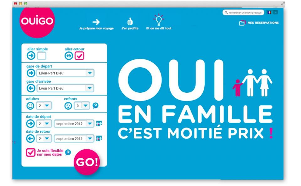 homepage OUIGO